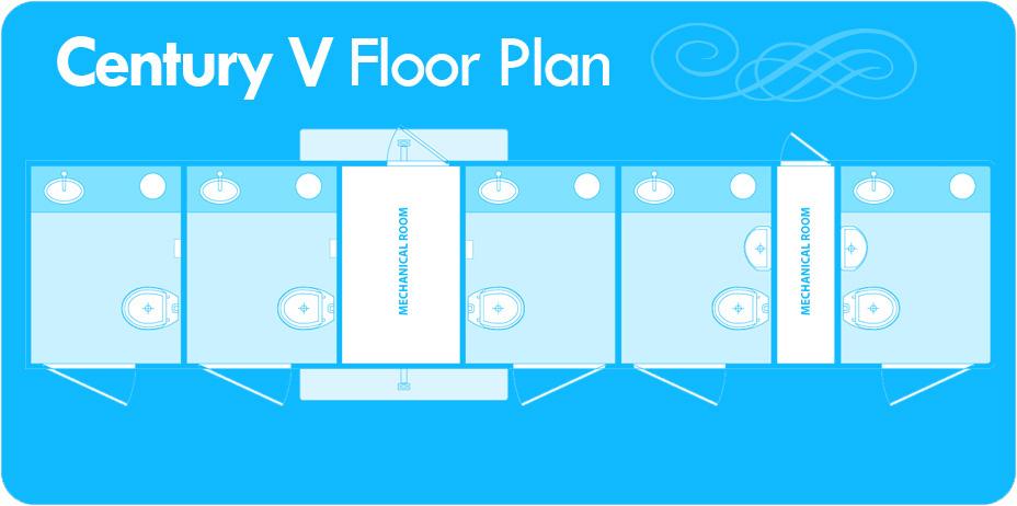 Century V Outdoor Restroom Trailer Floor Plan